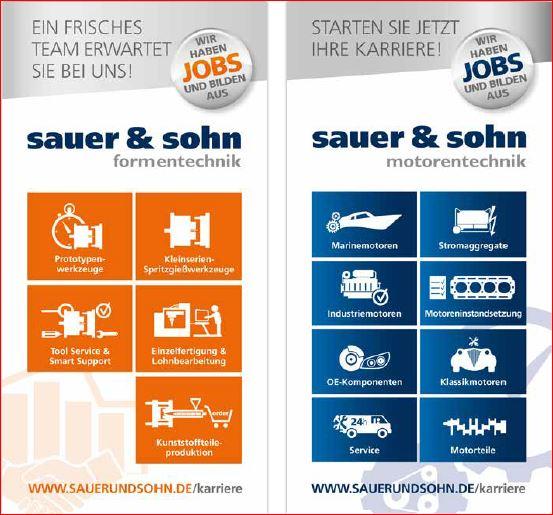 Online Bewerben im neuen Karriereportal bei Sauer & Sohn KG in Dieburg