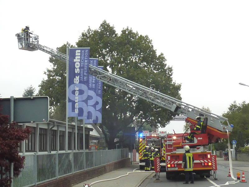 Die Feuerwehr Dieburg bei Sauer & Sohn