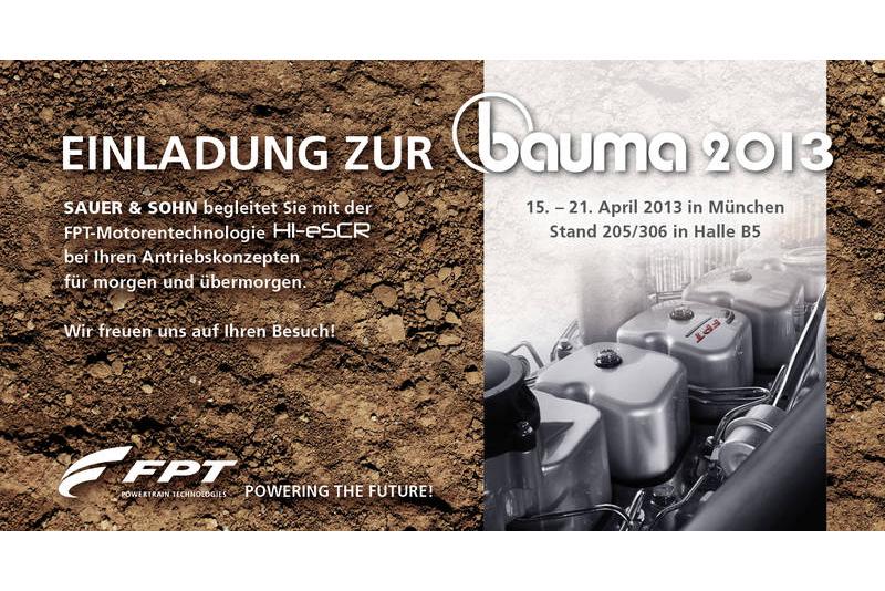 bauma 2013 vom 15.-21. April 2013 in München