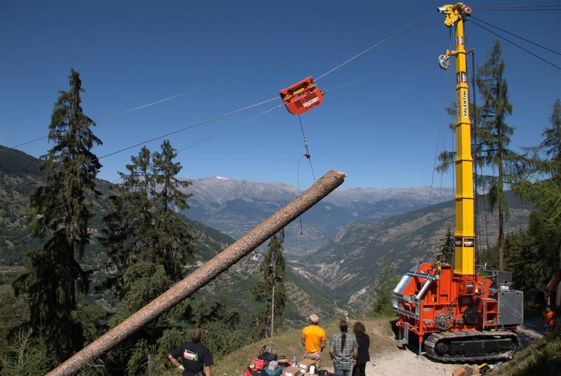 Mobile Seilkrananlagen in Südtirol